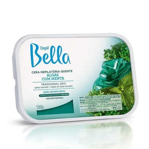 Cera Quente Depil Bella Algas Com Menta 500g.