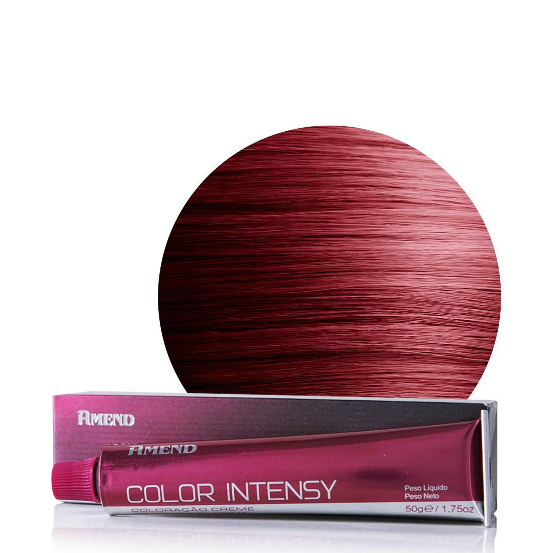 Coloração Amend 6.62 Louro Escuro Vermelho Irisado Color Intensy 50g.