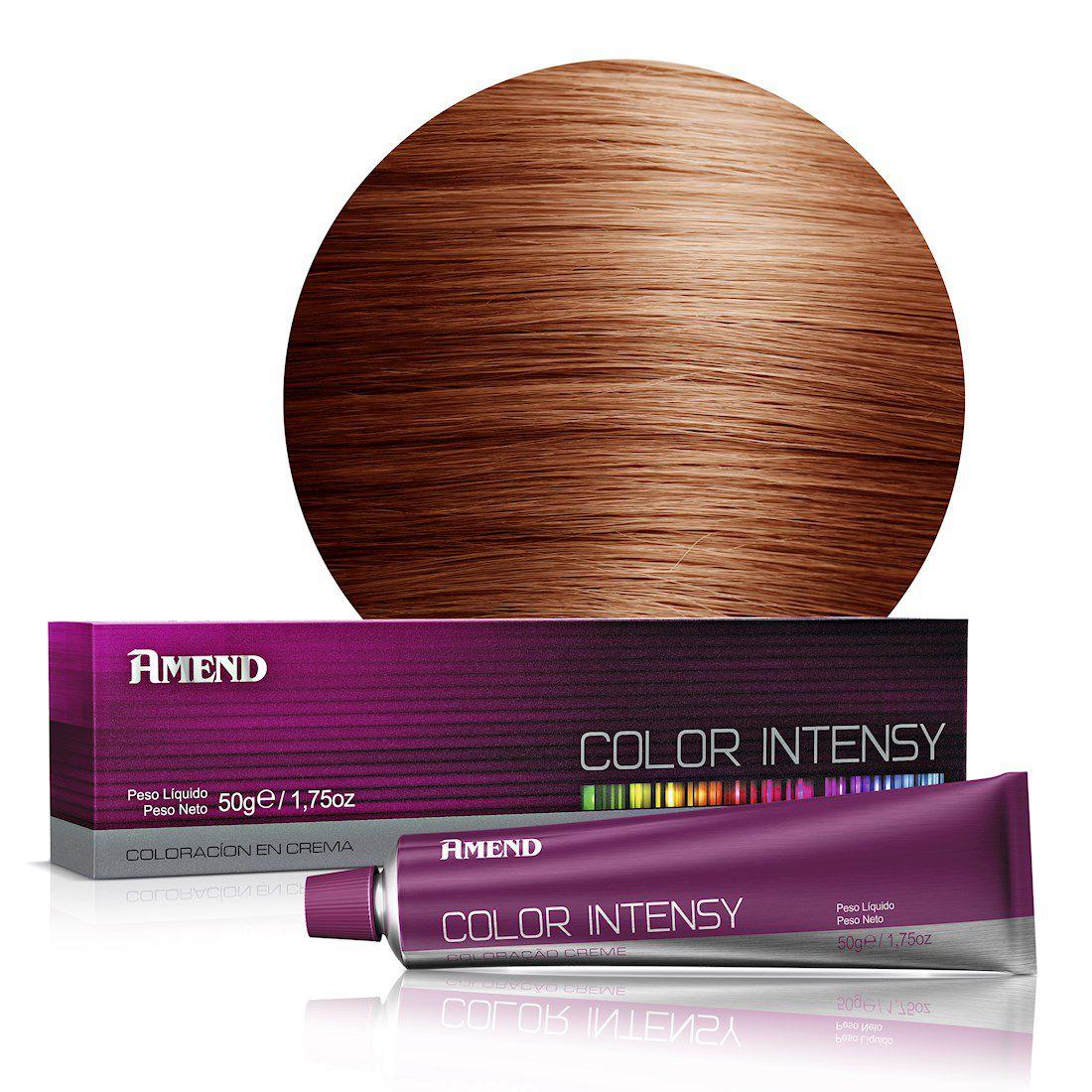 Coloração Amend 7.46 Louro Médio Cobre Avermelhado Color Intensy 50g.
