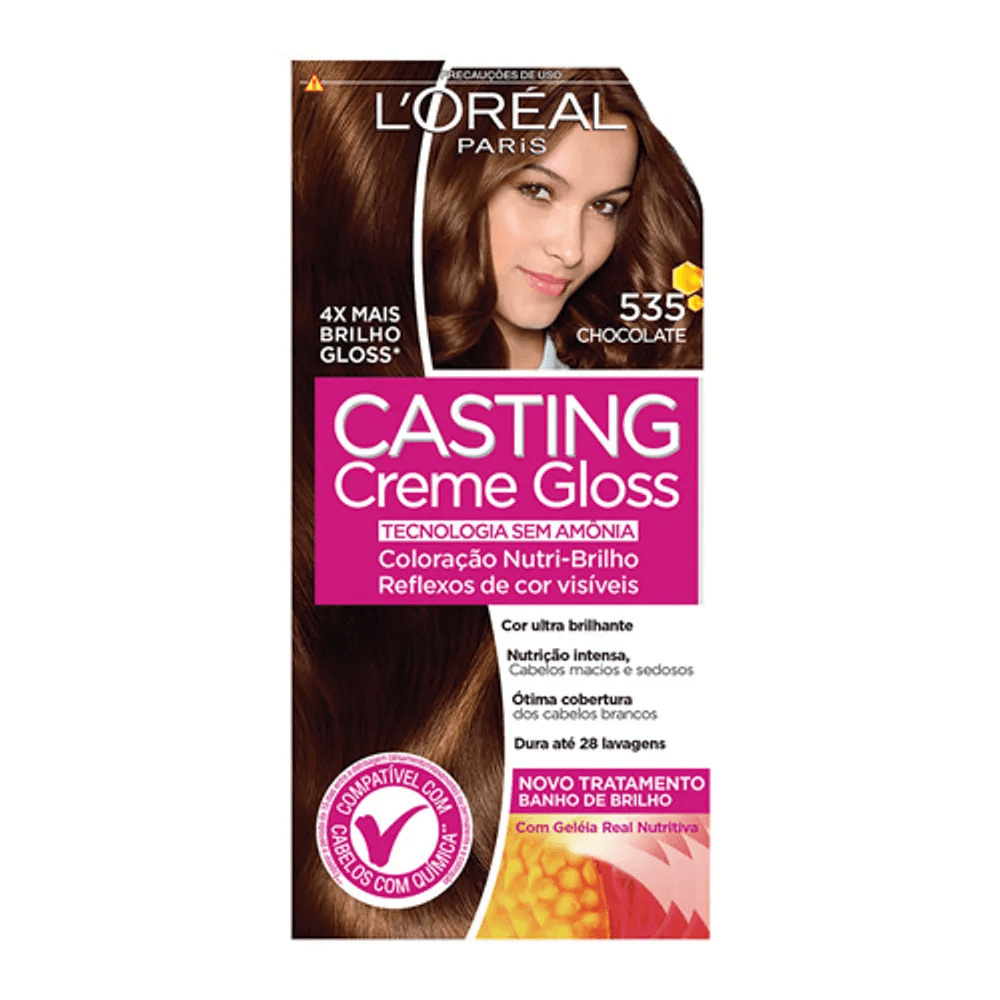 Tonalizante Casting Creme Gloss L'Oréal Paris 535 Chocolate