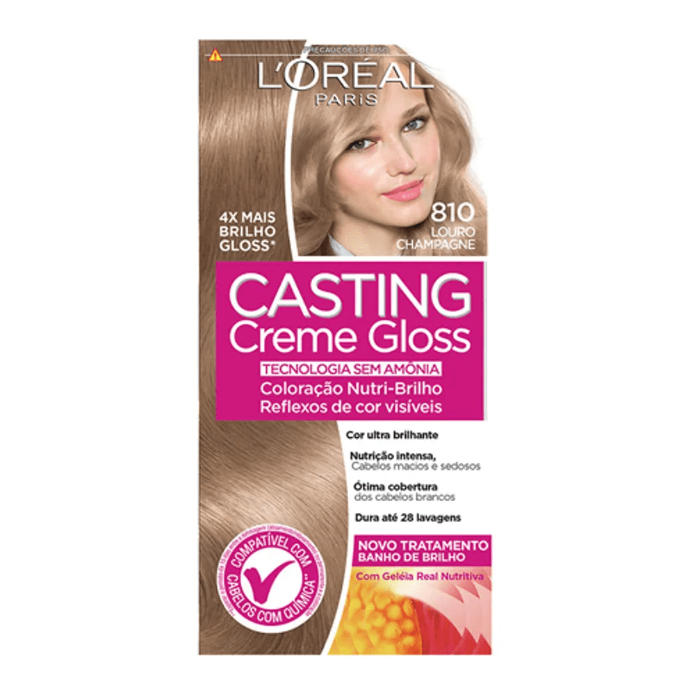 Tonalizante Casting Creme Gloss L'Oréal Paris 810 Louro Champagne