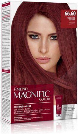 Coloração Creme Amend Kit 66.60 Vermelho Intenso Magnific Color
