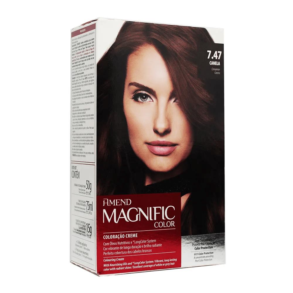 Coloração Creme Amend Kit 7.47 Canela Magnific Color