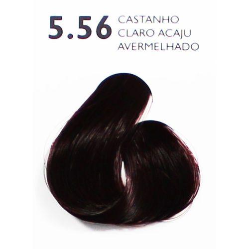 Coloração Creme Haskell Excllusiv Color 5.56 Castanho Claro Acaju Avermelhado 50g