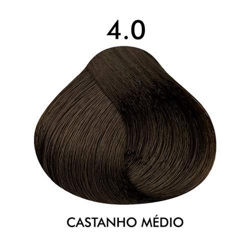Coloração Creme Celso Kamura Permanente 4.0 Castanho Médio 50 ml.