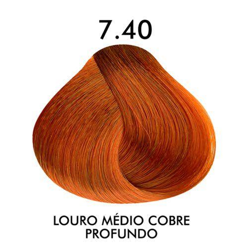 Coloração Creme Celso Kamura Permanente 7.40 Louro Médio Cobre Profundo 50 ml.