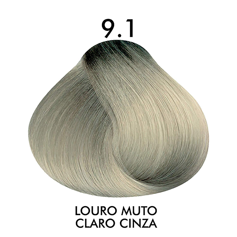 Coloração Creme Celso Kamura Permanente 9.1 Louro Muito Claro Cinza 50 ml.
