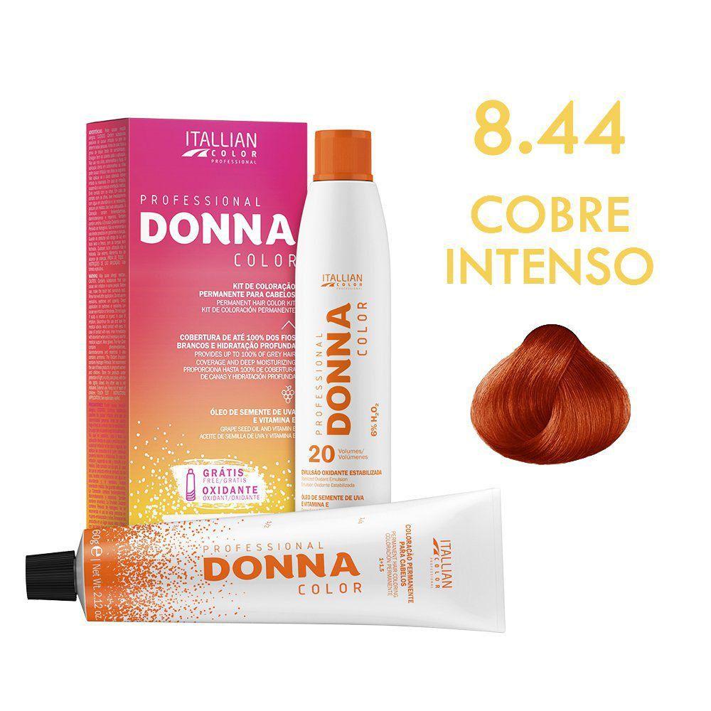 Coloração Donna Color Kit 8.44 Cobre Intenso 150g