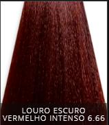Coloração Creme Triskle Color Professional 6.66 Louro Escuro Vermelho Intenso 50g