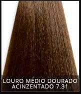 Coloração Creme Triskle Color Professional 7.31 Louro Médio Dourado Acinzentado 50g.