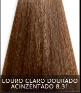 Coloração Creme Triskle Color Professional 8.31 Louro Claro Dourado Acinzentado 50g