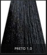 Coloração Creme Triskle Color Professional Intensive Repair 1.0 Preto 50g.