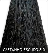 Coloração Creme Triskle Color Professional Intensive Repair 3.0 Castanho Escuro 50g