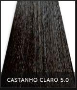 Coloração Creme Triskle Color Professional Intensive Repair 5.0 Castanho Claro 50g.