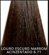 Coloração Creme Triskle Color Professional Intensive Repair 6.71 Louro Escuro Marrom Cinza 50g.