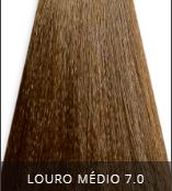 Coloração Creme Triskle Color Professional Intensive Repair 7.0 Louro Médio 50g