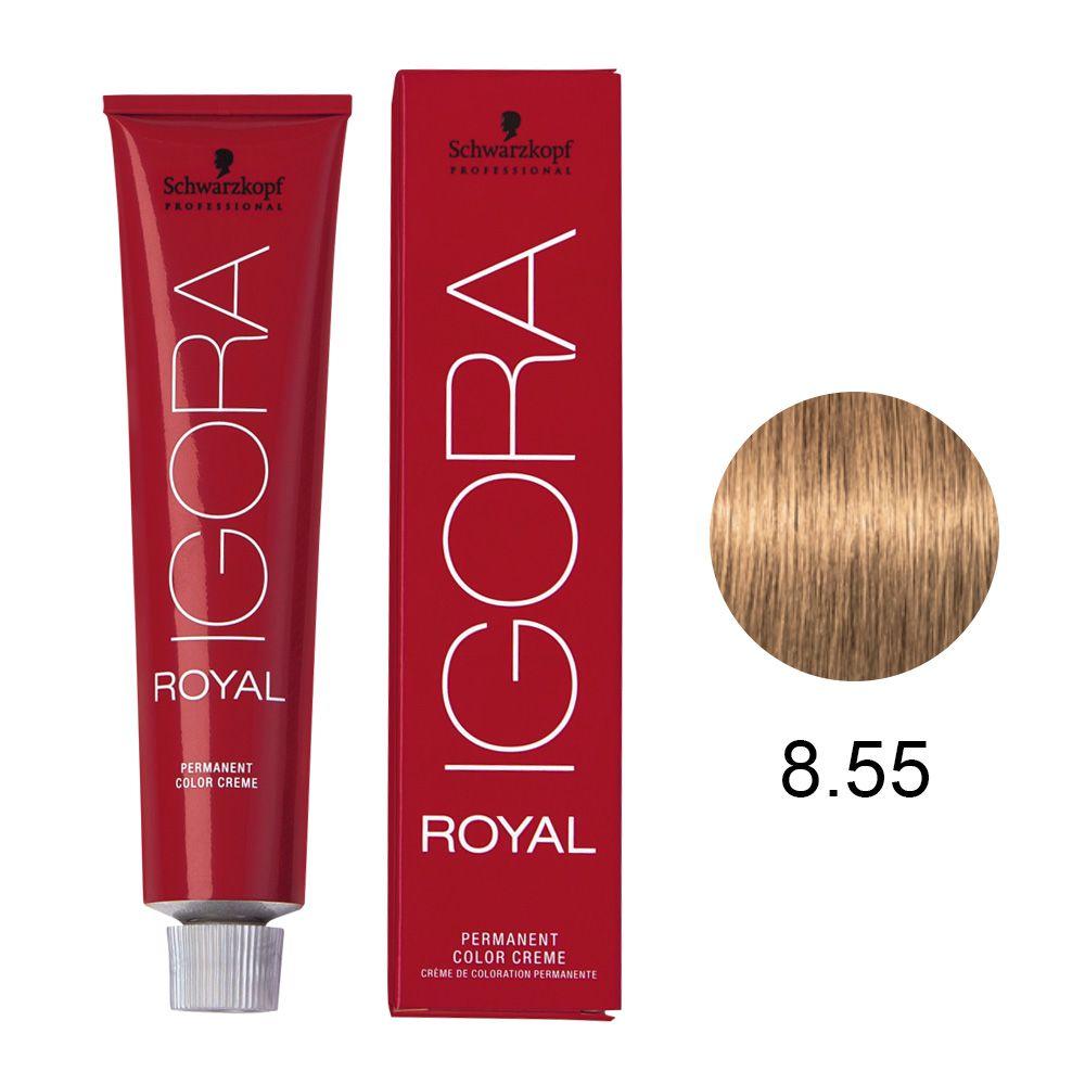 Coloração Igora Royal 8.55 Louro Claro Dourado 60g.