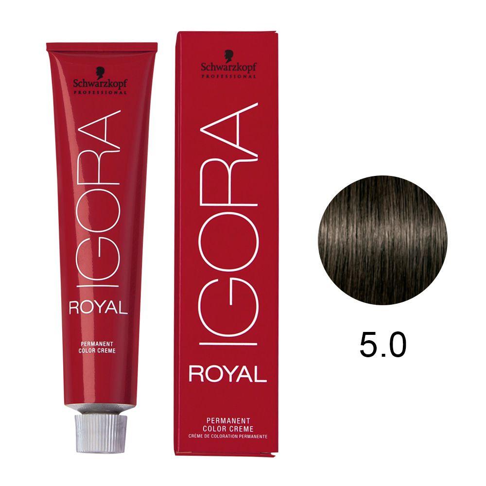 Coloração Igora Royal Cor 5.0 Castanho Claro Natural 60g.