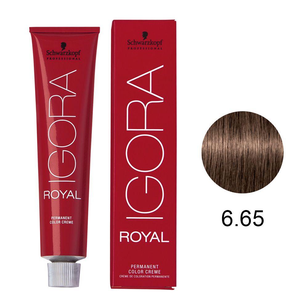 Coloração Igora Royal Cor 6.65 Louro Escuro Marrom Dourado 60g
