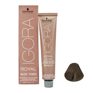 Coloração Igora Royal Nude 7.46 Louro Médio Bege Marrom 60g