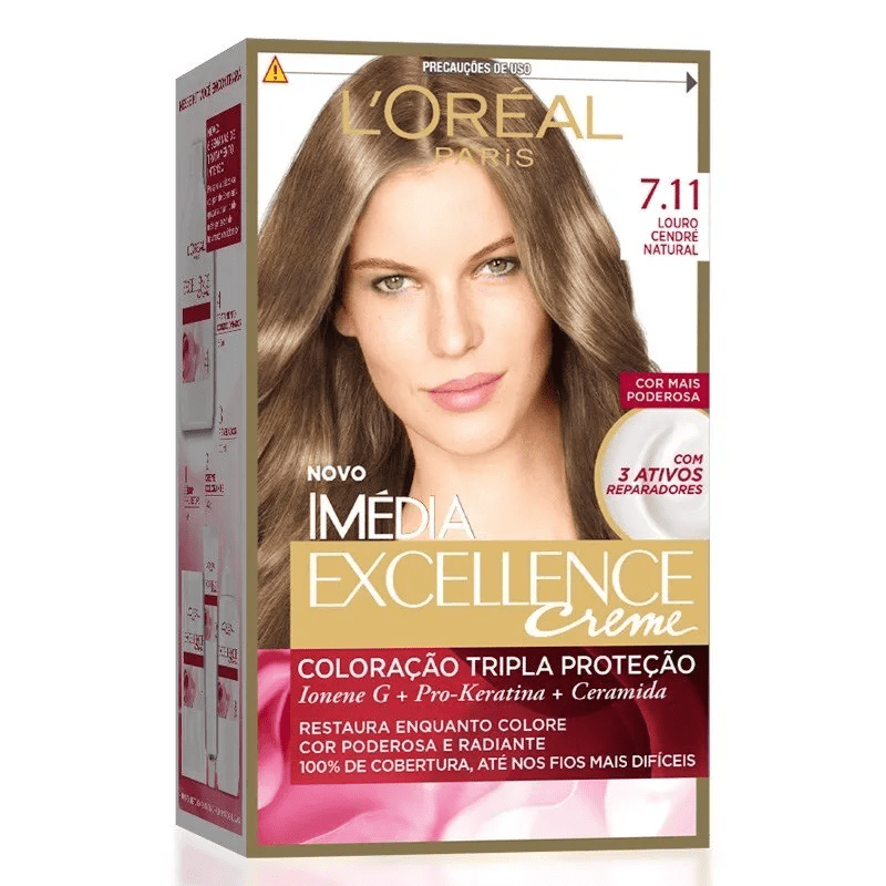 Coloração Imédia Excellence 7.11 Louro Cendré Natural L'Óreal Paris