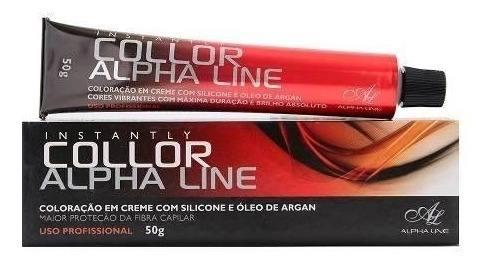 Coloração Instantly Collor 5.3 Castanho Claro Dourado 50 g  Alpha Line
