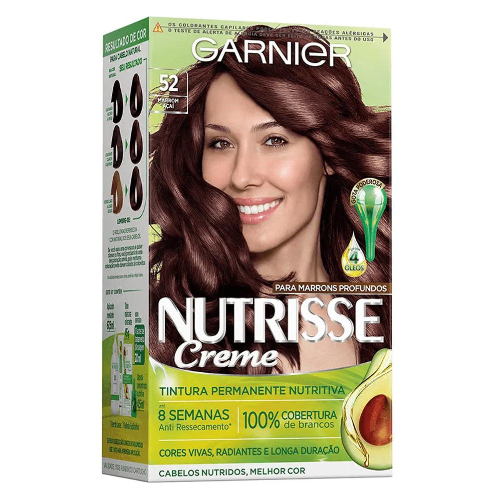 Coloração Nutrisse Garnier 52 Marrom Açaí Castanho