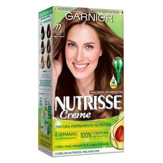 Coloração Nutrisse Garnier 77 Chocolate Avelã