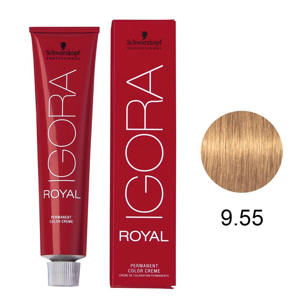 Coloração Igora Royal 9.55 Louro Extra Claro Dourado Extra 60g