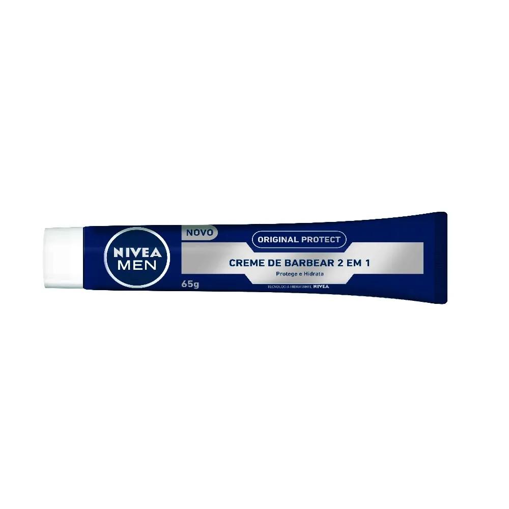 Creme De Barbear Nivea Men 2 Em 1 Original Protect Com 65g.