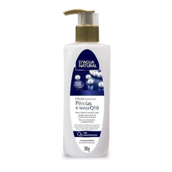 Creme de Massagem Pérolas + Nano Q10 350g. - D'Água Natural