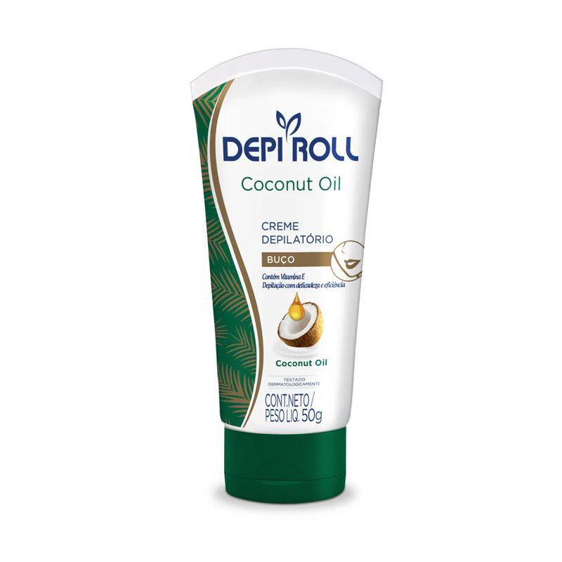 Creme Depilatório Buço Coconut Oil  DepiRoll 50g.