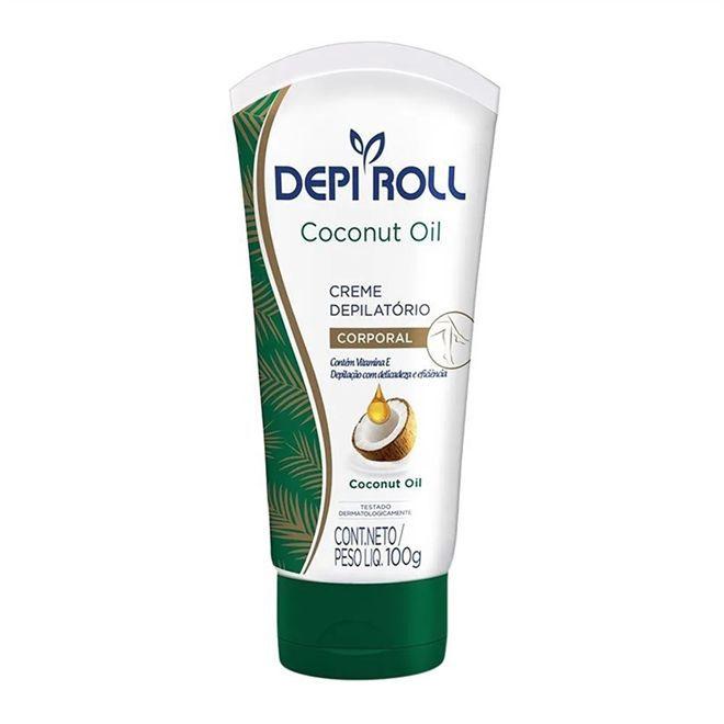 Creme Depilatório Corporal Coconut Oil  DepiRoll 100g.