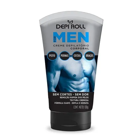 Creme Depilatório Corporal Depi-Roll For Men 130g.