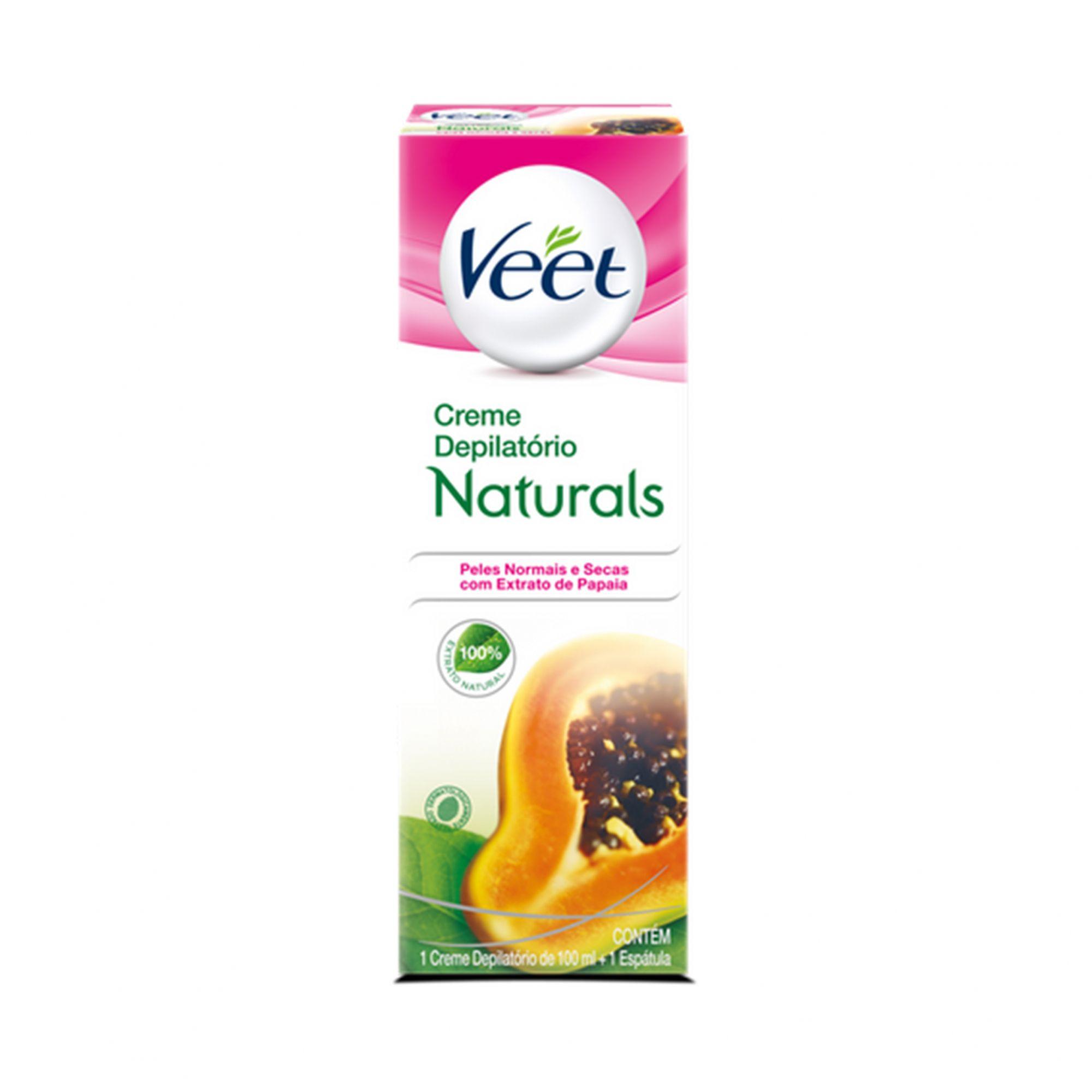 Creme Depilatório Veet Naturals Peles Normais e Secas 100ml.