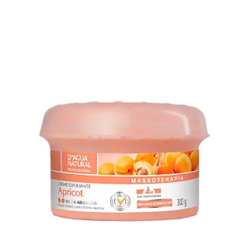 Creme De Massagem Esfoliante D'Agua Natural Média Abrasão Apricot 300g