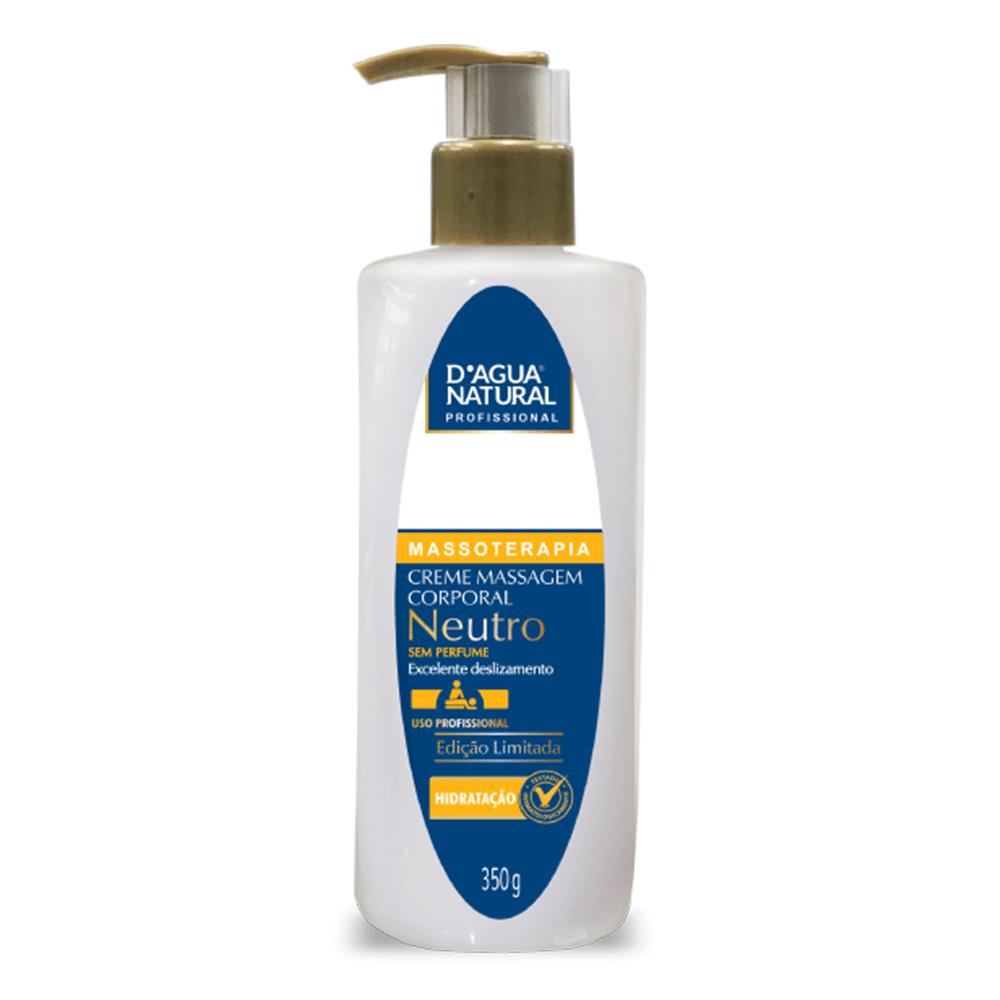 Creme para Massagem Neutro sem Perfume 350g. - D'Água Natural
