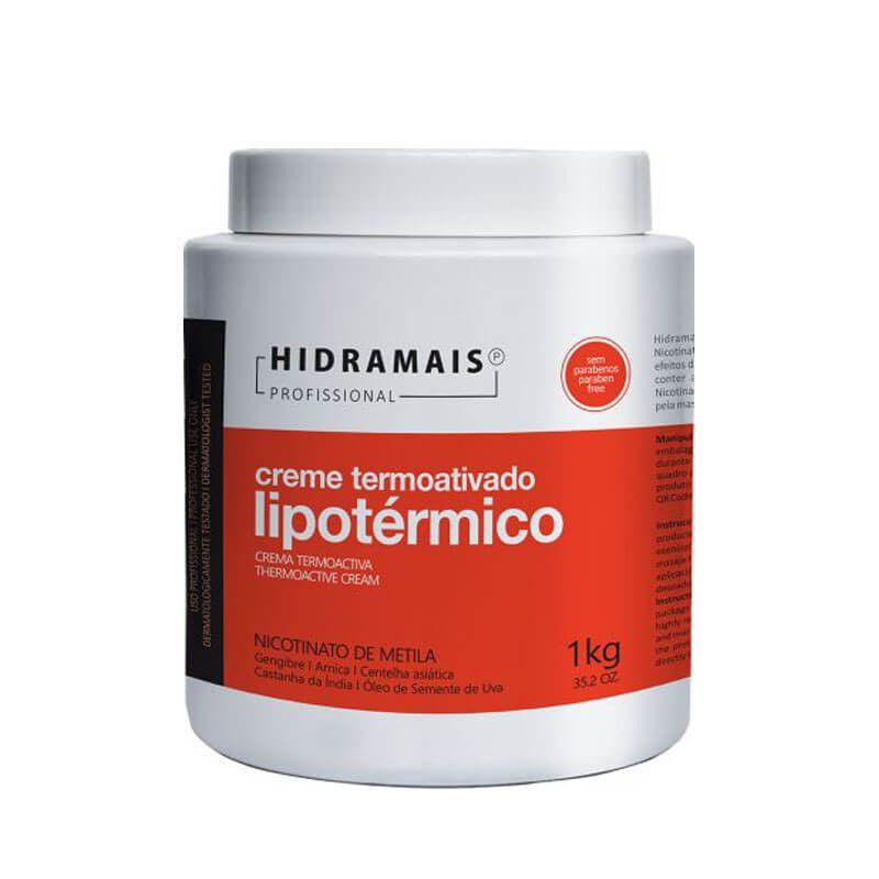 Creme Termoativado Lipotérmico Nicotinato de Metila Hidramais 1Kg.
