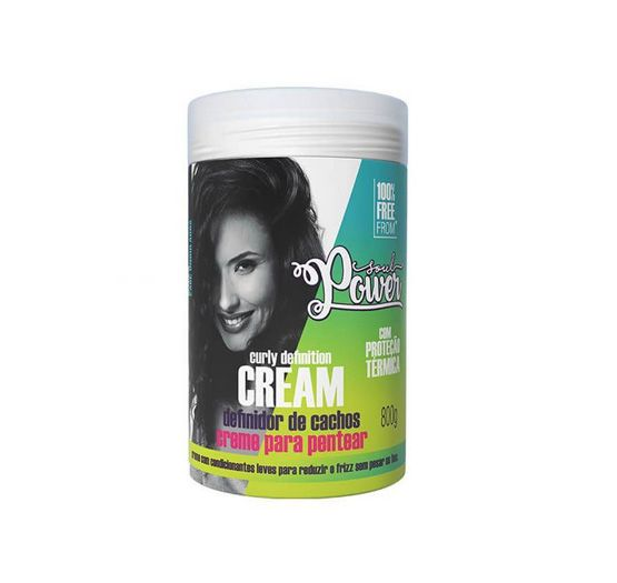 Curly Definition Cream Creme para Pentear Soul Power 800g.