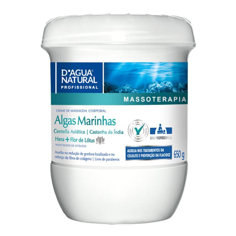 D'Agua Natural Creme de Massagem Corporal 650g - Algas Marinhas