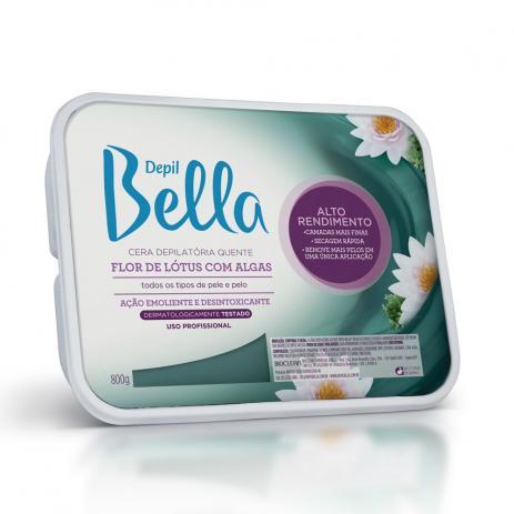 Depil Bella Cera Depilatória Flor De Lotus Com Algas 800g.