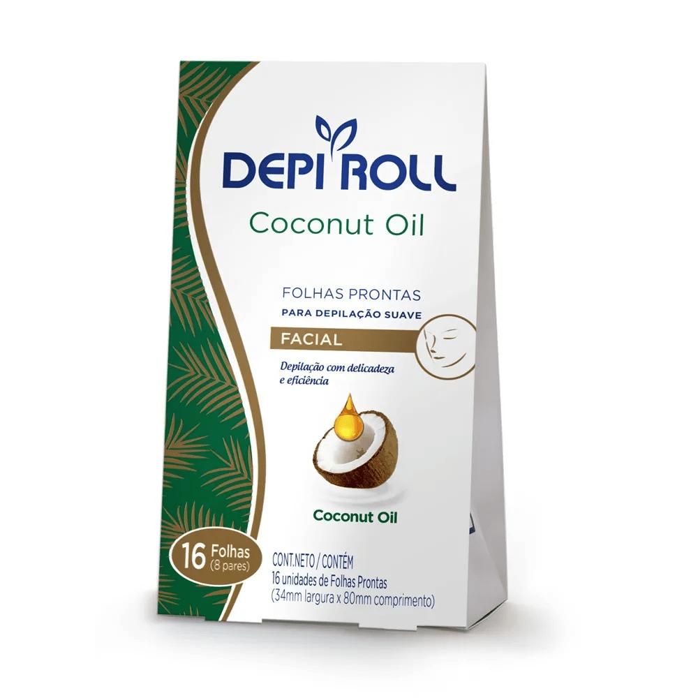Depiroll Folhas Prontas Corporal para Depilação 8 Pares - Oléo de Coco