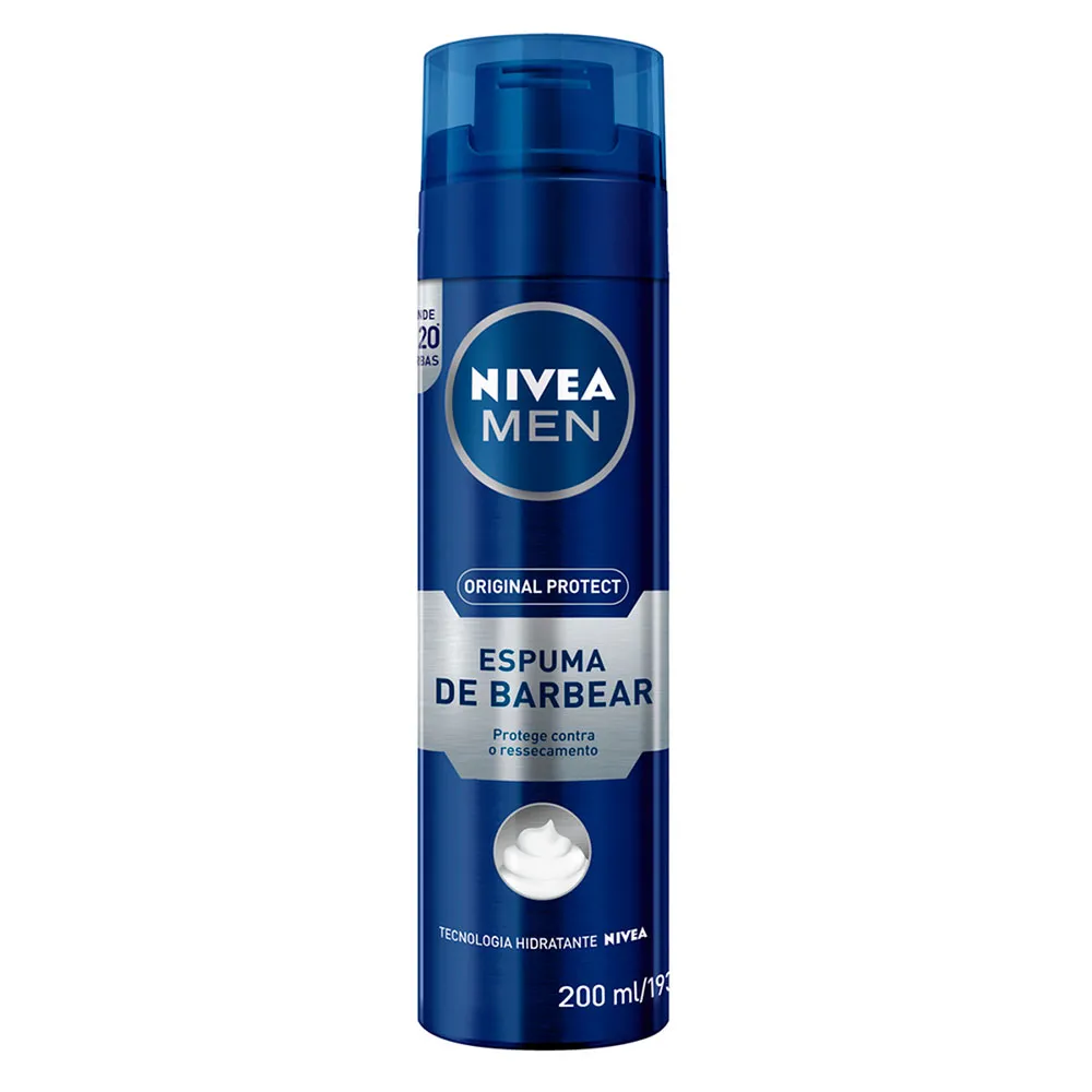 Espuma De Barbear Original Protect Nivea Men 193g.