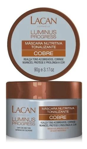 Máscara Nutritiva Luminus Progress Tonalizante Lacan Cobre 90g