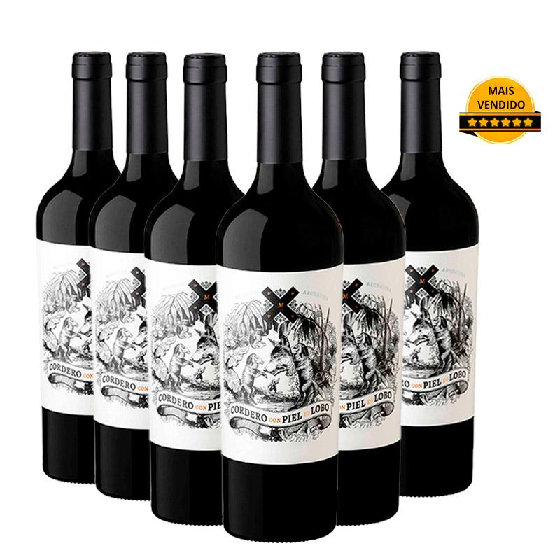 Kit Cordero Con Piel de Lobo Cabernet Sauvignon - Caixa com 6 Unidades