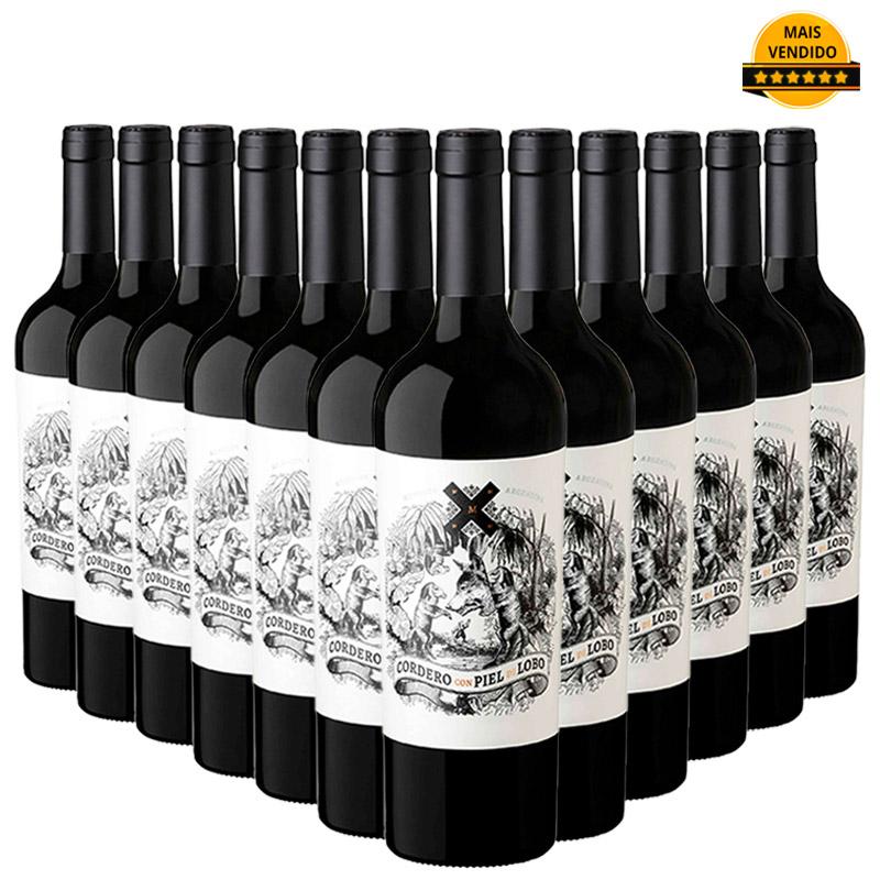 Kit Cordero Con Piel de Lobo Malbec - Caixa com 12 unidades