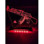Luminária AK-47 em LED de Alta Voltagem