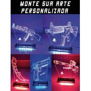 Luminárias Personalizadas Com Sua Arte, nome ou Logo Favorito