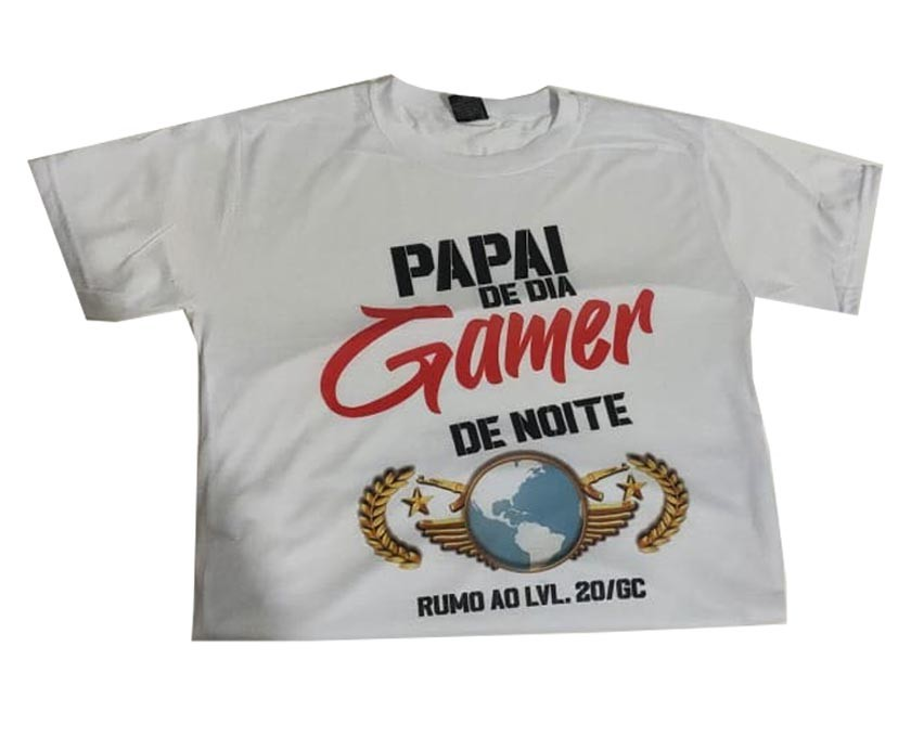 Camiseta Branca Personalizável GoD GaminG