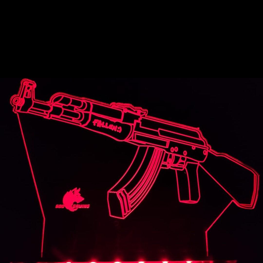 Luminária Gamer AK-47